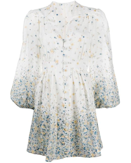 Zimmermann Carnaby フローラル ドレス White
