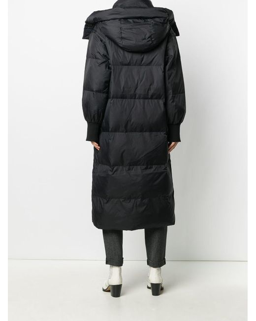 Essentiel Antwerp フーデッド パデッドコート Black