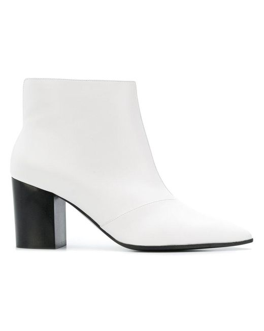 fe36f792f76 Stella McCartney - White Classic Pointed Boots - Lyst ...