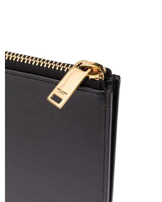 Клатч С Монограммой Saint Laurent для него, цвет: Black