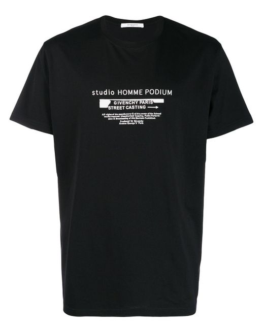 メンズ Givenchy Studio Homme Podium Tシャツ Black