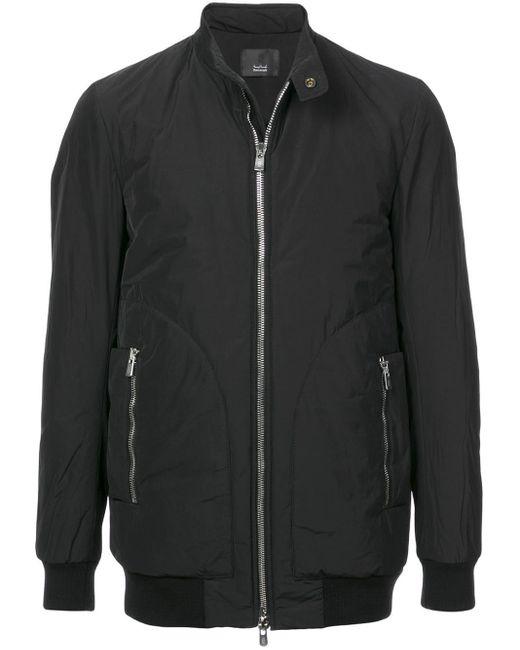 Thamanyah Black Padded Biker Jacket for men