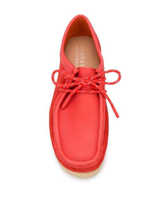 Туфли Wallabee На Шнуровке Clarks, цвет: Red
