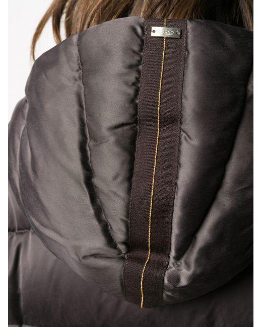 Пуховик С Капюшоном Herno, цвет: Brown