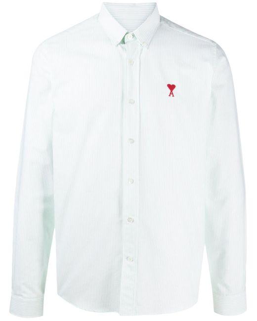 Camicia Ami de Coeur con colletto button-down di AMI in White da Uomo