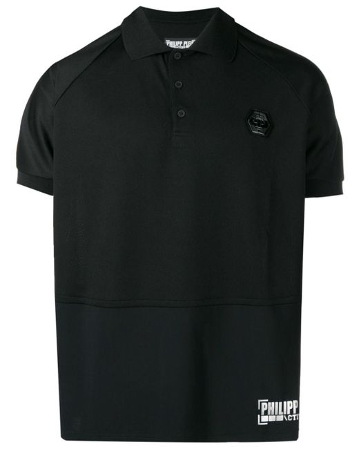 メンズ Philipp Plein ロゴ ポロシャツ Black
