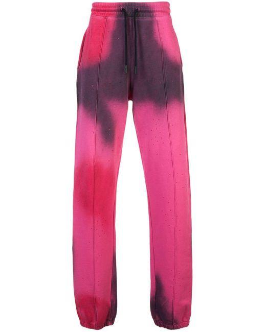 Off-White c/o Virgil Abloh Jogginghose mit Spray-Design in Pink für Herren