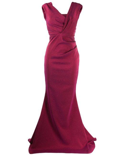 Robe Bobina Talbot Runhof en coloris Purple
