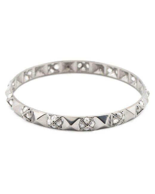Loree Rodkin | Metallic Pyramid Stud Diamond Bangle | Lyst