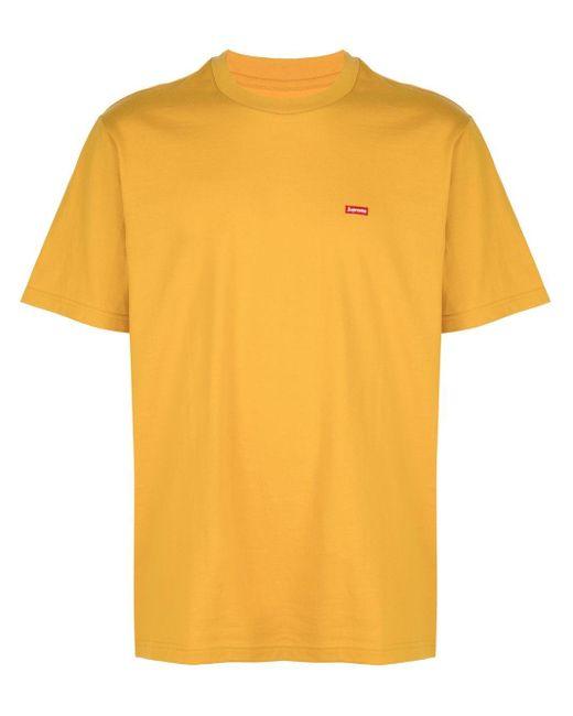 メンズ Supreme ロゴ Tシャツ Yellow
