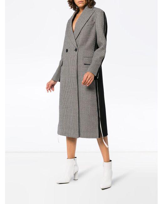 Двубортное Пальто В Ломаную Клетку 'chana' Stella McCartney, цвет: Gray