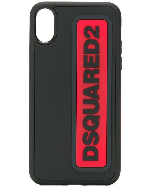 メンズ DSquared² ロゴ Iphone X ケース Black
