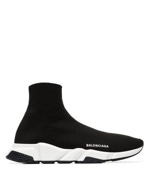 Balenciaga - Black Zapatillas altas de punto Speed for Men - Lyst