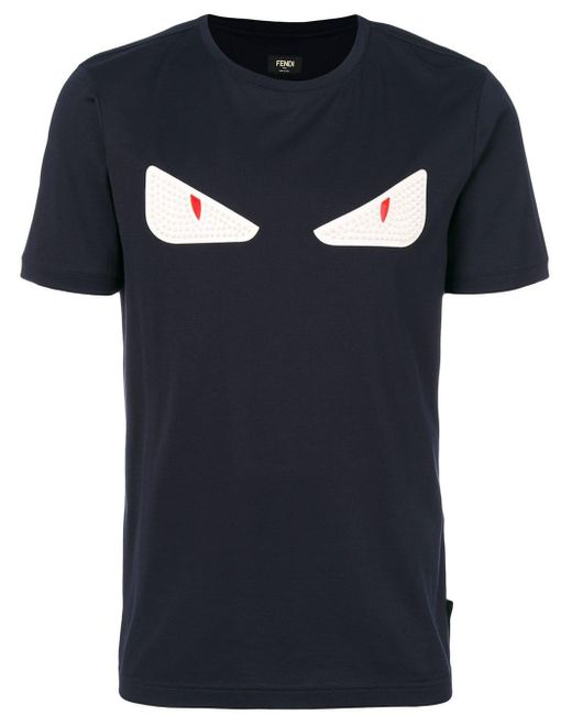 Fendi Bag Bugs T-shirt in het Blue voor heren