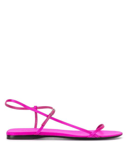 The Row Bare フラットサンダル Pink