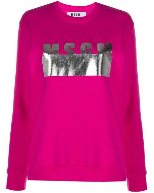 Толстовка С Логотипом MSGM, цвет: Pink