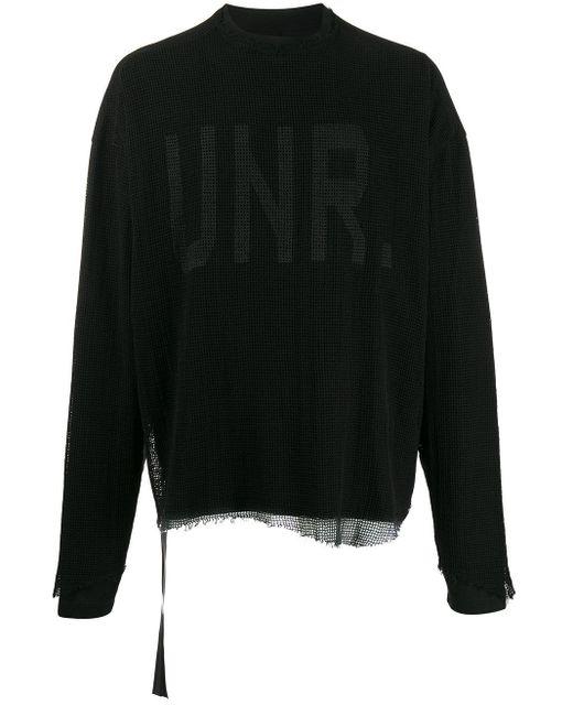 メンズ Unravel Project ロゴ スウェットシャツ Black
