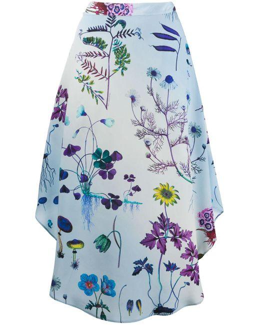 Stella McCartney フローラル スカート Blue