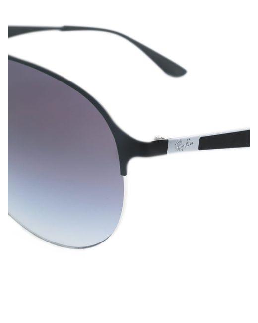 Ray-ban Men's Black Round Frame Sunglasses