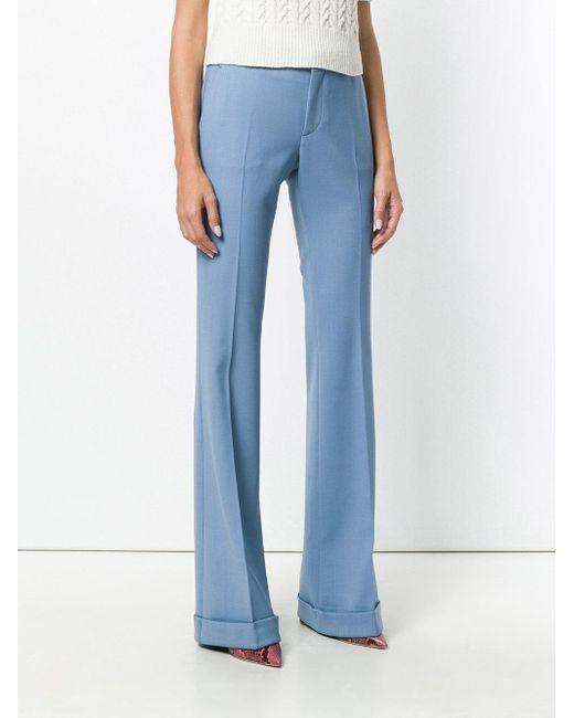 wholesale dealer ac955 ce1a2 Miu Miu Pantaloni Sartoriali Svasati in Blue - Lyst