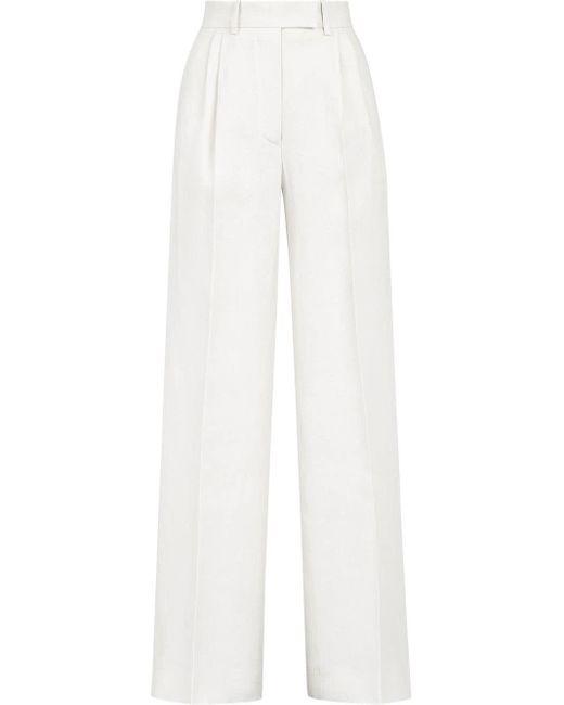 Прямые Брюки С Завышенной Талией Fendi, цвет: White