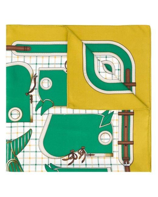 Платок Camails 1990-х Годов Pre-owned Hermès, цвет: Green