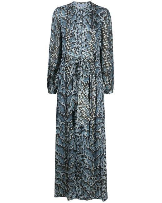 Temperley London Ocelot プリント ドレス Multicolor