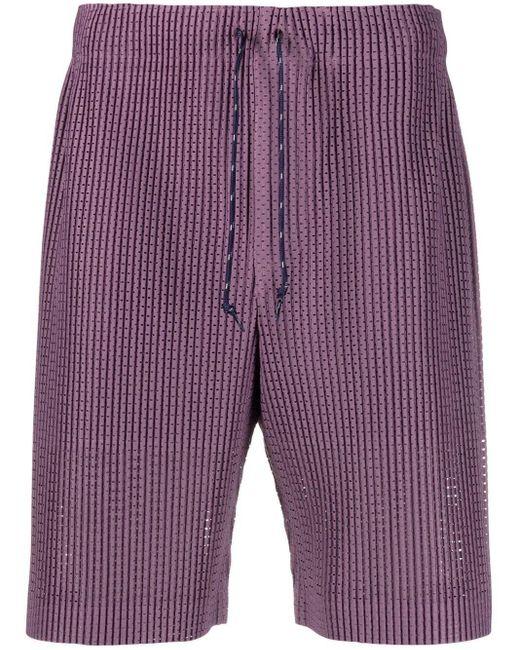 メンズ Homme Plissé Issey Miyake ドローストリング ショートパンツ Purple
