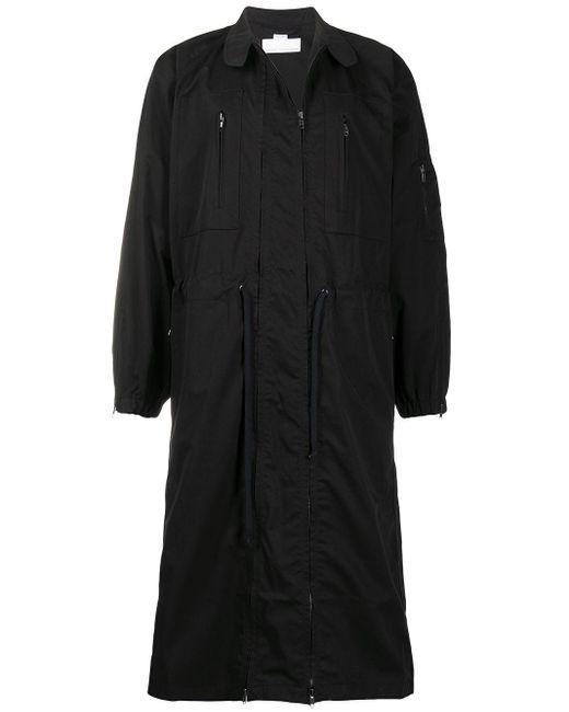 メンズ Random Identities ドローストリング コート Black