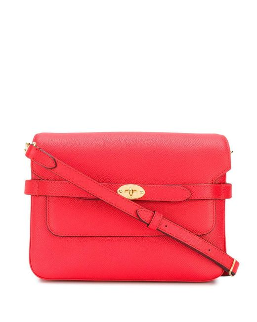 Mulberry Belted Bayswater サッチェルバッグ Red