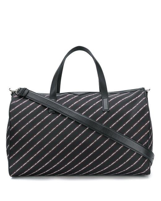 Karl Lagerfeld K/stripe ボストンバッグ Black