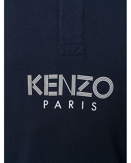 メンズ KENZO ロゴ ポロシャツ Blue