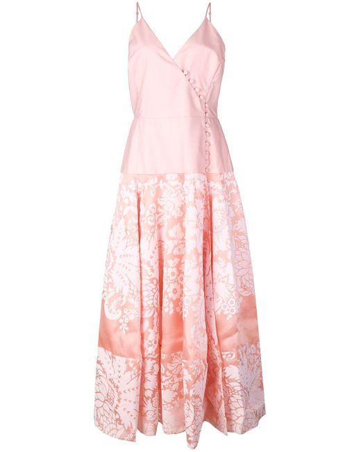 Rosie Assoulin Damask ラップドレス Pink