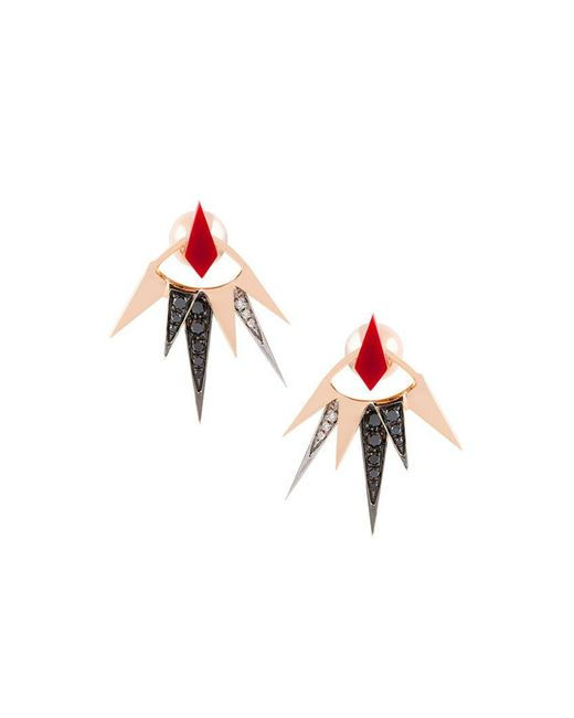 Anapsara - Metallic 'freedom' Diamond Earring - Lyst