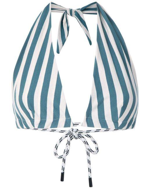 Osklen Summer Stripe クロップドトップ Blue