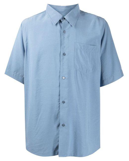 Рубашка С Короткими Рукавами AMI для него, цвет: Blue