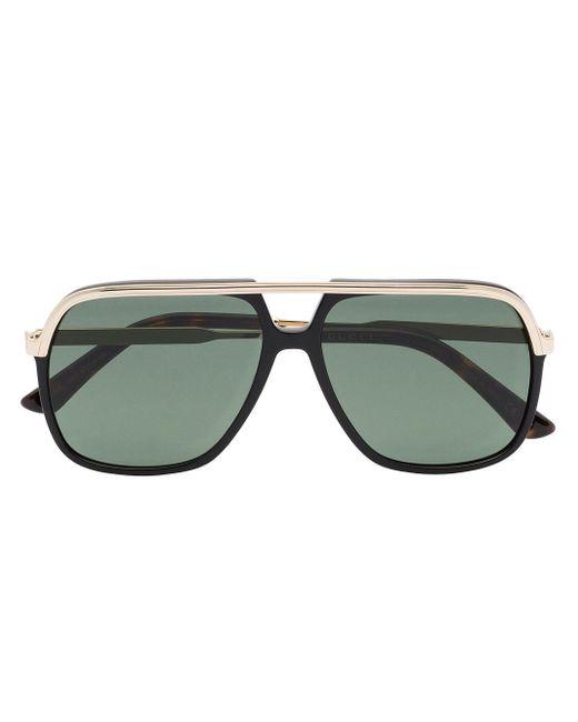 メンズ Gucci Gucci Rect Metal Sunglasses Black