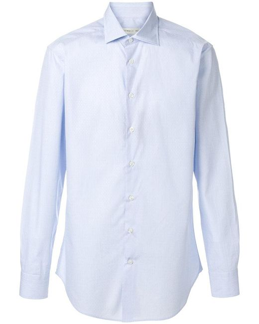 Etro - Blue Classic Shirt for Men - Lyst