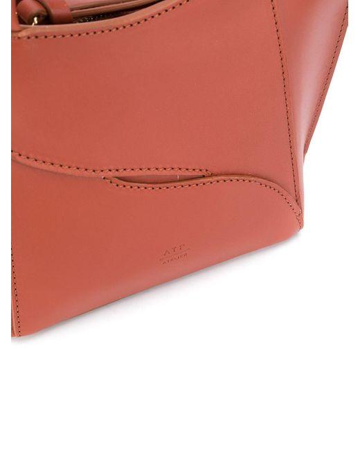 Mini sac à main à design structuré Atp Atelier en coloris Brown