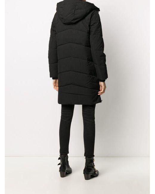 Calvin Klein フーデッド パデッドコート Black