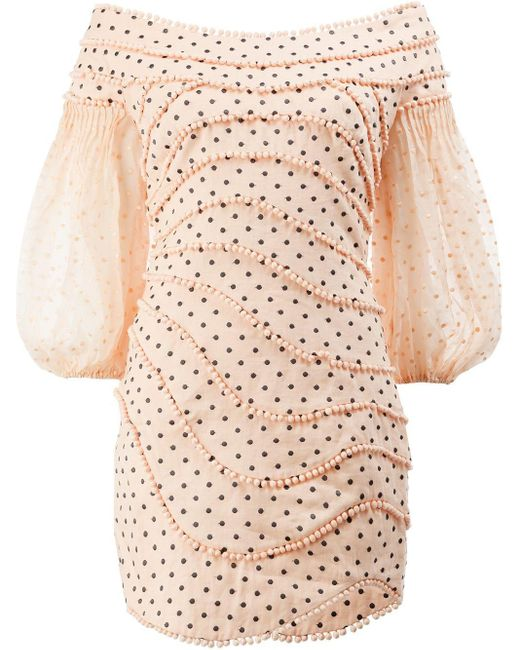 Zimmermann ドット ドレス Pink