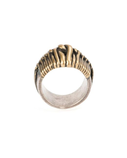 Tobias Wistisen Metallic 'wide Twist' Ring for men