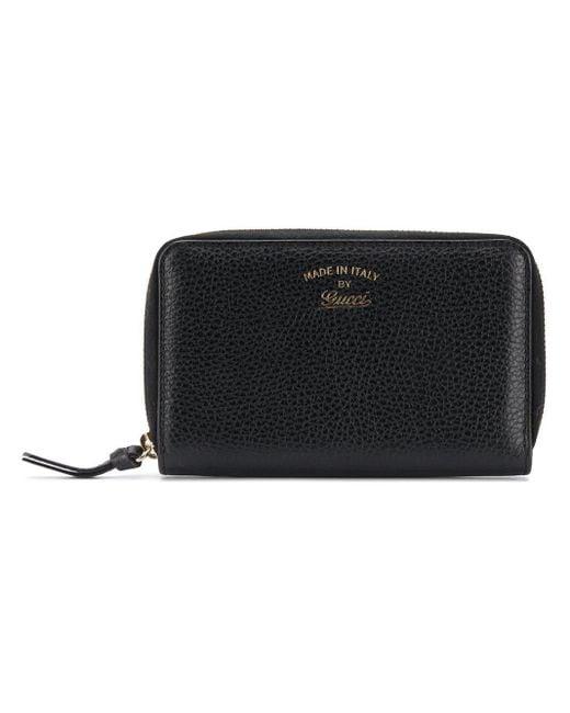 Gucci Black Small Zip-around Wallet