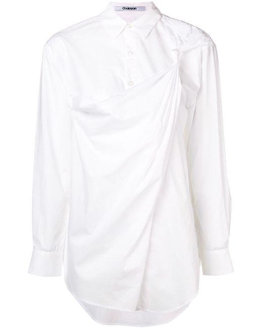 Chalayan ドレープ シャツ White