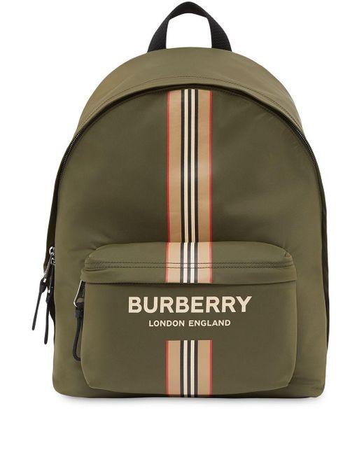 Sac à dos à Icon Stripe Burberry pour homme en coloris Green