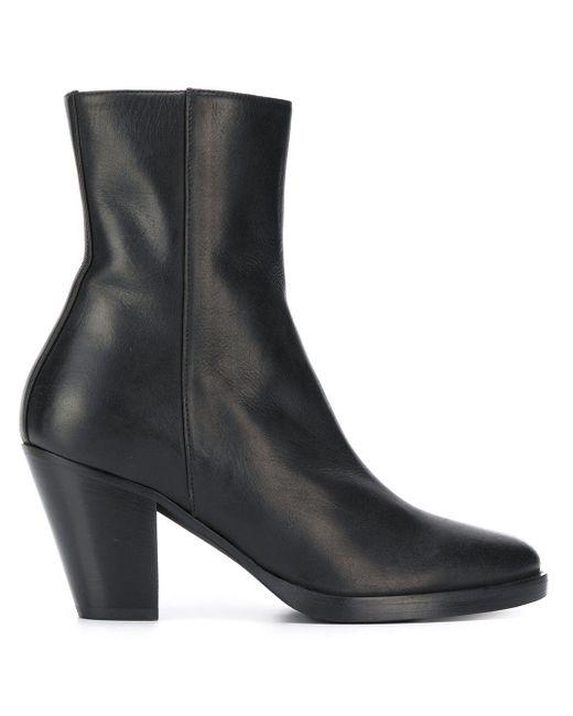 A.F.Vandevorst Black Side-zip Ankle Boots