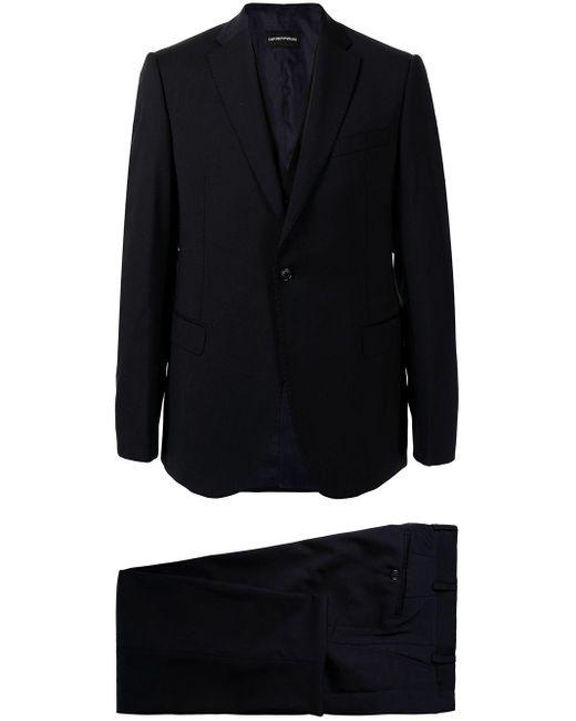 Костюм С Однобортным Пиджаком Emporio Armani для него, цвет: Black
