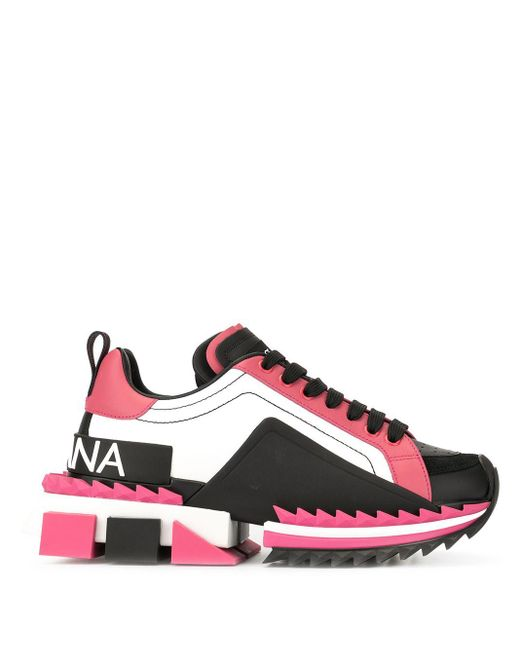 Dolce & Gabbana カラーブロック スニーカー Pink