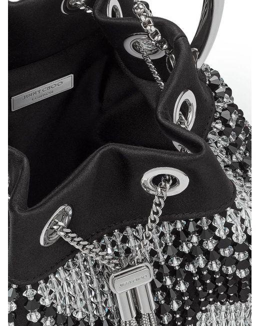 Декорированная Сумка-ведро Bon Bon Jimmy Choo, цвет: Black