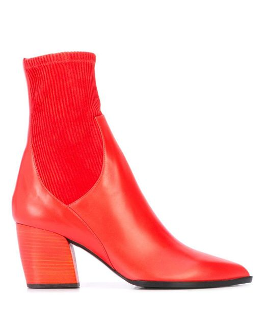 Pierre Hardy Rodeo アンクルブーツ Red